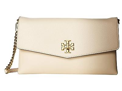 Tory Burch Kira Mixed-Materials Clutch (New Cream) Handbags