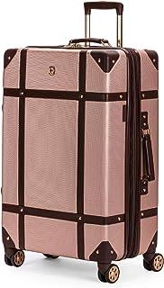 SWISSGEAR 7739 Trunk, Hardside Spinner Luggage, Large Checked Suitcase - Blush