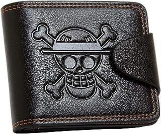 1 portafogli di un pezzo, cappello di paglia Pirati Jolly Roger Leathercraft portafoglio