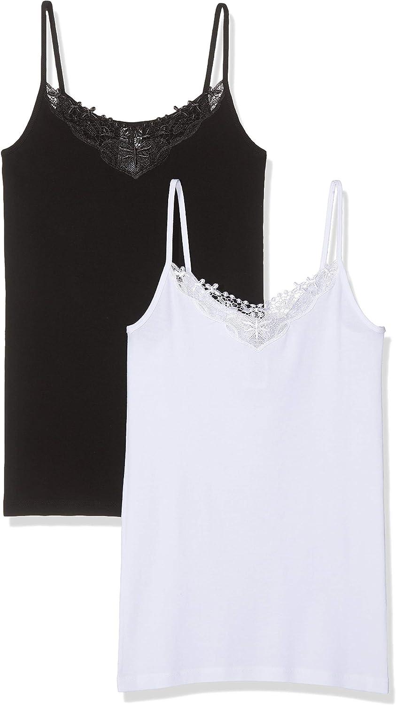 Only Camiseta sin Mangas (Pack de 2) para Mujer