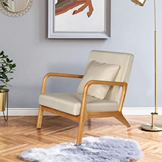 """ELUCHANG Mid-Century Modern Accent Chairs, 25.6"""" x 30"""" x 30"""",Fabric Reading Armchair,Accent Chairs for Living Room Bedroo..."""