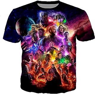 LovelyStar Store T-Shirt for Man Women Kids, Avengers Movie Character Graphic 3D Print Short Sleeve Pullover Fashion Sweatshirt