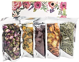Wellcn Premium Botanical Herbal kit-Dried flowers Tea Sampler - Pink Rosebuds, Hibiscus, Dried Calendula Flowers , Lemongrass , Dried oval kumquat for Flower Tea,Soap&Candle Making, Crafts