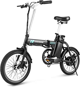 ANCHEER Electric Folding Bicycle, Electric Bike