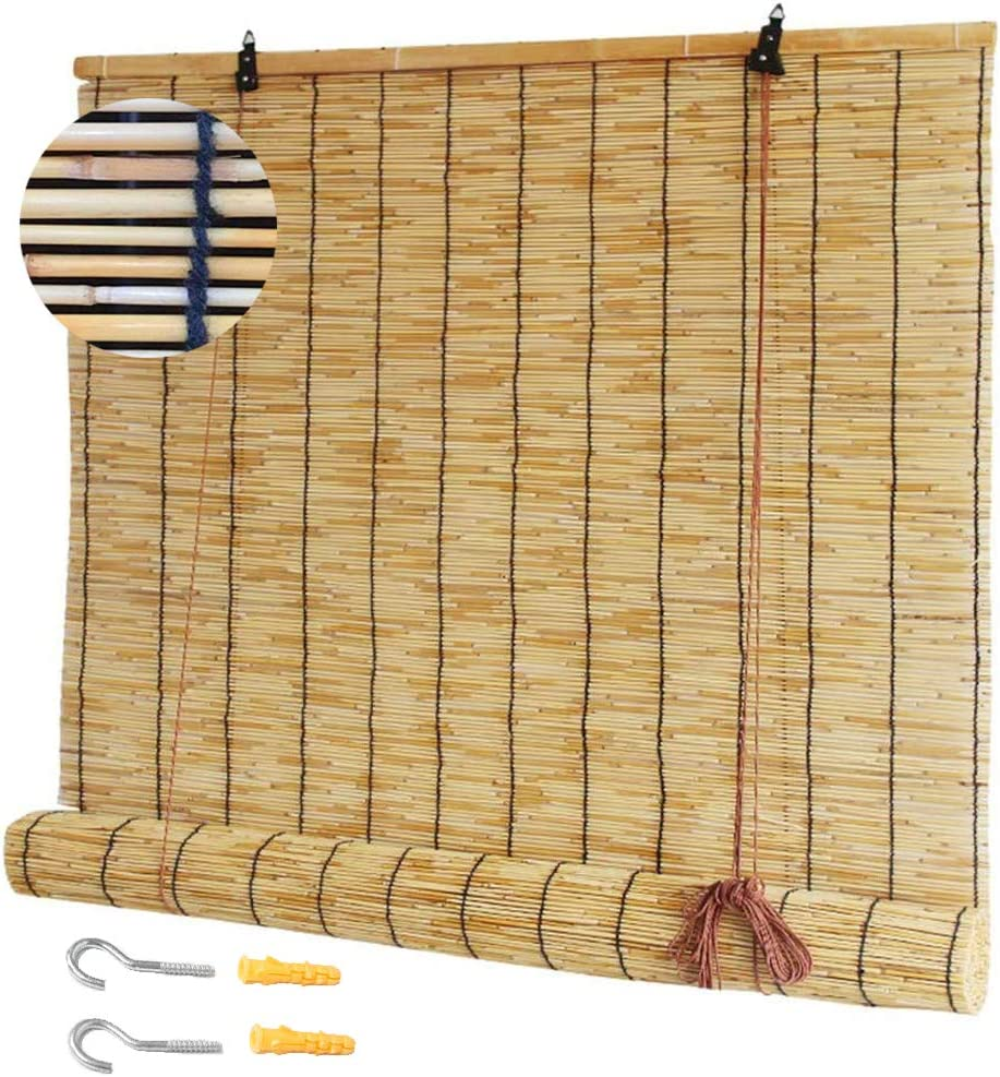 NIANXINN Natural Roll-up Reed Bombing free shipping Shade Bambo Roller Cheap super special price Sunshade Blinds