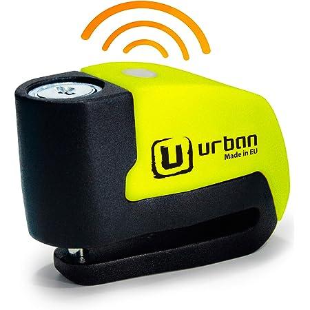 Urban Security Ur6 Bremsscheibenschloss Alarm 120 Db Warnung ø 6 Mm Metallic Universell Moto Scooter Fahrrad Gelb Auto