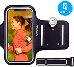 Mpow Running Armband for iPhone 11 11 Pro XS XR X 8 7 6s 6, Sweatproof Running Phone Armband Sports Armband with Key Holder and Extension Strap, Suitable for iPhone X 8/7/ 6S/ 6 Up To 6.1 Inches