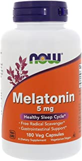 Now Foods Melatonin - 5 mg - 180 Veg Capsules