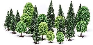 ANCLLO Lot de 30 arbres de modélisme 4,5 à 13 cm - Mélange d'architecture - Table de sable - Arbre pour bricolage paysager...
