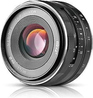 Meike MK-E-35-1.7 35mm F1.7 Large Aperture Manual Prime Fixed Lens APS-C for Sony E-Mount Digital Mirrorless Cameras A7III A9 NEX 3 3N 5 NEX 5T NEX 5R NEX 6 7 A6400 A5000 A5100 A6000 A6100 A6300 A6500