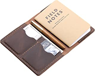 Leather Journal Cover for Field Notes, Moleskine Cahier Cover, Handmade Vintage Leather Cover for 3.5