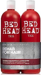 TIGI Bed Head Rehab For Hair Resurrection Shampoo & Conditioner Pack 750mL