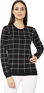 VIMAL JONNEY Cotton Blended Fullsleeve Round Neck T-Shirt for Women(Pack of 1)