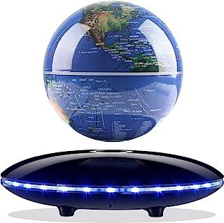 Magnetic Levitating Globe، Novel Magnetic Floating Geographic World Globe خودکار در هوا با 7 رنگ Gradient Light Case پایه برای کودکان هدیه آموزشی دکوراسیون دفتر کار منزل