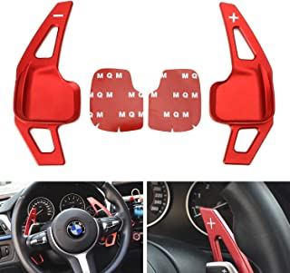 iJDMTOY Red CNC Billet Aluminum Steering Wheel Larger Paddle Shifter Extension Covers For BMW 2 3 4 5 6 X1 X4 X5 X6 (Fxx Chassis Code)