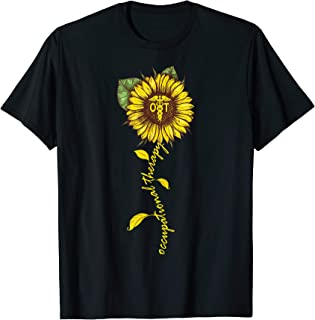 Sunflower Occupational Therapy Shirt OT Therapist Gifts