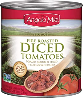 Angela Mia Fire Roasted Diced Tomatoes, 102 Ounce (Pack of 6)