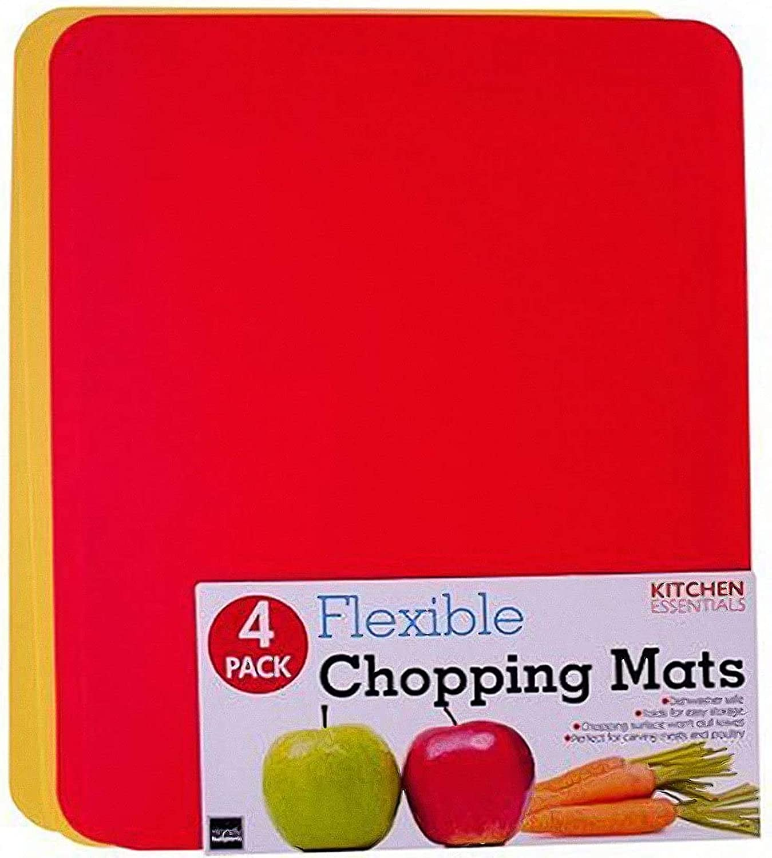 Kitchen Essentials Flexible Chopping Mats, Pack of 4 Pcs. 12x15 Inch.