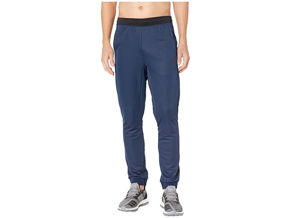 adidas Athlete ID 3-Stripes Training Pants (Collegiate Navy) Men