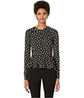 Kate Spade New York Athleisure - Heart It Heartbeat Peplum Top
