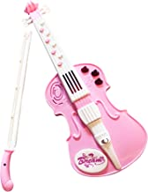 LilPals Amazing Child Prodigy Violin Toy - High Tech Musical Instrument with 12 Music Demo Sounds and Flashing Lights (Pink)