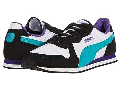 PUMA Cabana Run (Puma White/Puma Black/Viridian Green/Prism Violet) Men