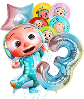 WOOACME Cocomelon Balloons Set for 1st, 2nd, 3rd, 4th, 5th, Cocomelon Birthday Party Supplies (3rd)