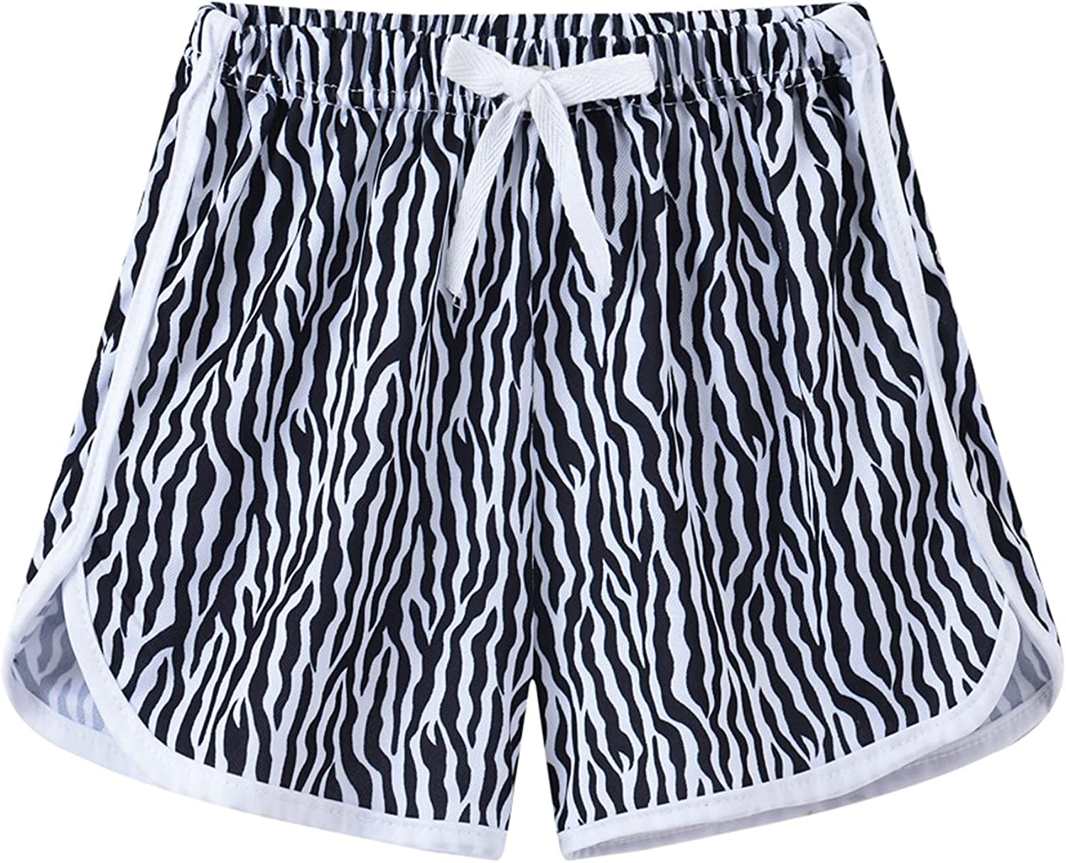 Allesgut Girls' Athletic Shorts Workout Shorts Assorted Pattern for 3-8 Years