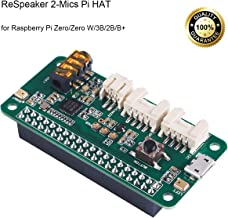 ReSpeaker 2-Mics Pi HAT,(Raspberry Pi HAT,Raspberry Pi Expansion Board) Smart Voice Dual Microphone Expansion wm8960, Designed for AI and Voice Applications for Raspberry Pi Zero/Zero W/3B/2B/B+