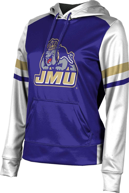 James Madison University Girls' Pullover Hoodie, School Spirit Sweatshirt (Old School)