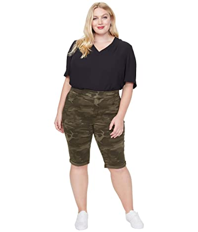 NYDJ Plus Size Plus Size 13 Pull-On Shorts in Camo (Camo) Women