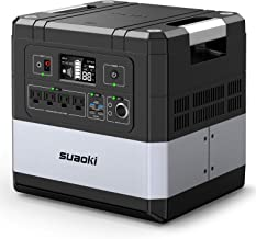 SUAOKI G1000 Portable Power Station 1182Wh Large-Capacity Lithium Battery Generator 1000W AC, 12V DC, 12V Car, and USB/60W PD Type-C/UPS for Outdoor Camping, Emergency Power Outages, RV Travel
