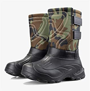 Honored Bottes de neige épaisses et imperméables pour homme dans la doublure du tube ou bottes de pêche en velours amovibl...