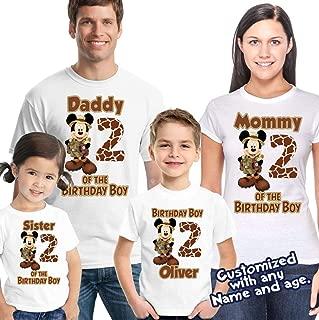 Mickey and Minnie Safari Animal Kingdom Family Vacation T-Shirt safari