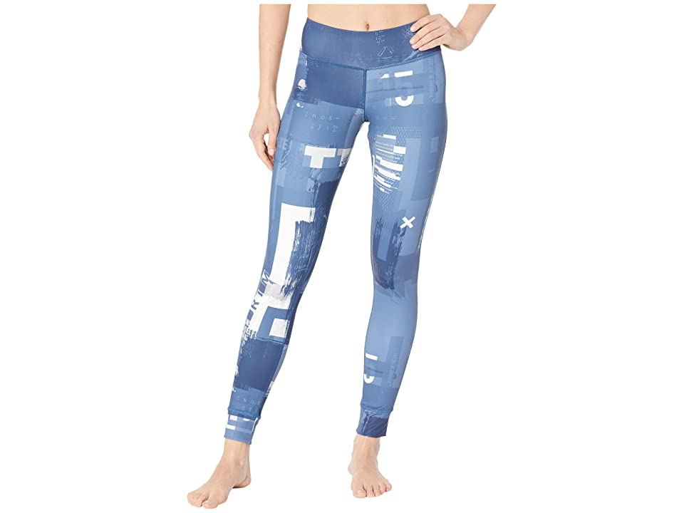 Reebok CrossFit Lux Tights Digital CrossFit (Bunker Blue) Women