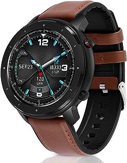 Fullmosa Smartwatch dla mężczyzn i kobiet, zegarek fitness z systemem Android iOS, ekran dotykowy 1,3 cala, monitor aktywn...