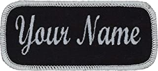 Uniform or work shirt personalized Identification tape Embroidered Sew On of Hook Fastener.