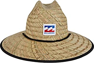 Men's Tides Print Straw Lifeguard Hat
