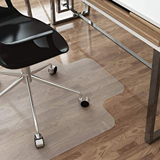 LANGRIA Large Office Desk Chair Mat with Lip for Hardwood Floors, 48