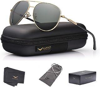 نظارات شمسية مستقطبة LUENX للرجال من نوع Aviator للنساء: حماية من الأشعة فوق البنفسجية 400