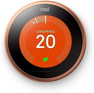 Google Nest Learning Thermostat, 3eme Génération, Thermostat Connecté, Cuivre