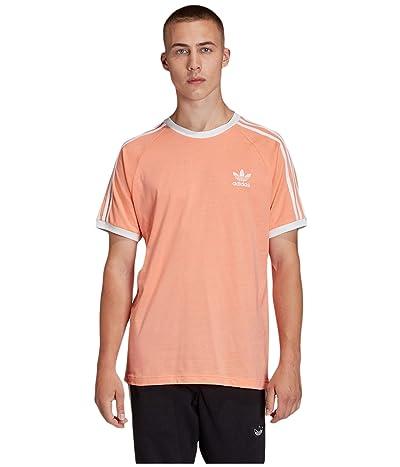 adidas Originals 3-Stripes Tee (Charlk/Coral) Men