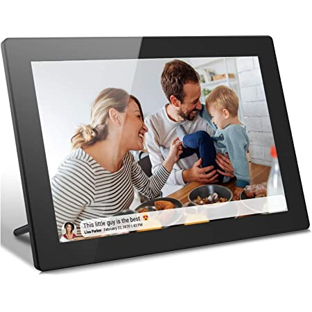 Digital Picture Frame 10 Inch, Pohopa 16GB Digital Wi-Fi Photo Frame with Touch Screen, 1280x800 HD Display, SD Card Slot, Wall-Mountable, Sharing Photos or Small Videos from Anywhere (Black)