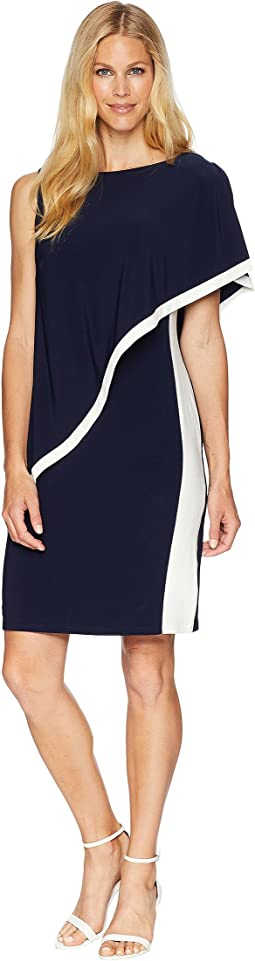 1T Matte Jersey Timna Two-Tone Sleeveless Day Dress
