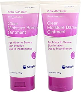 Coloplast Critic-Aid Clear Moisture Barrier Ointment - 6 Ounce Tube - Pack of 2