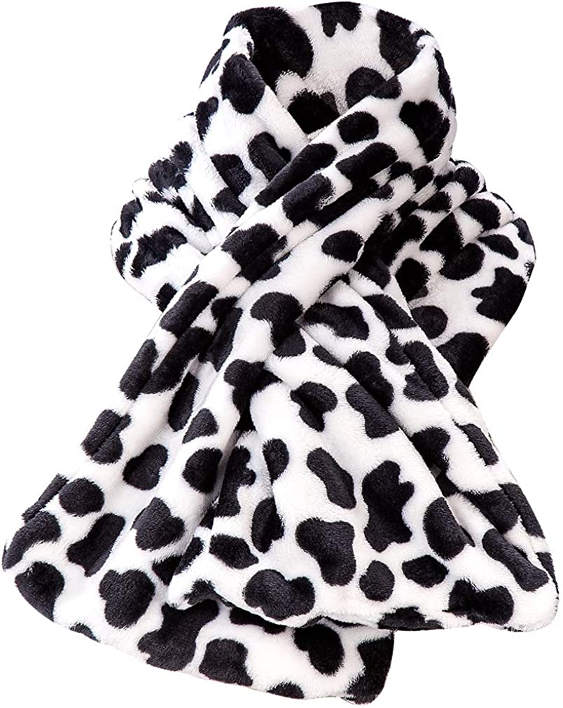 low-pricing Winter Warm Flannel Fleece Cow online shopping Scarf Print