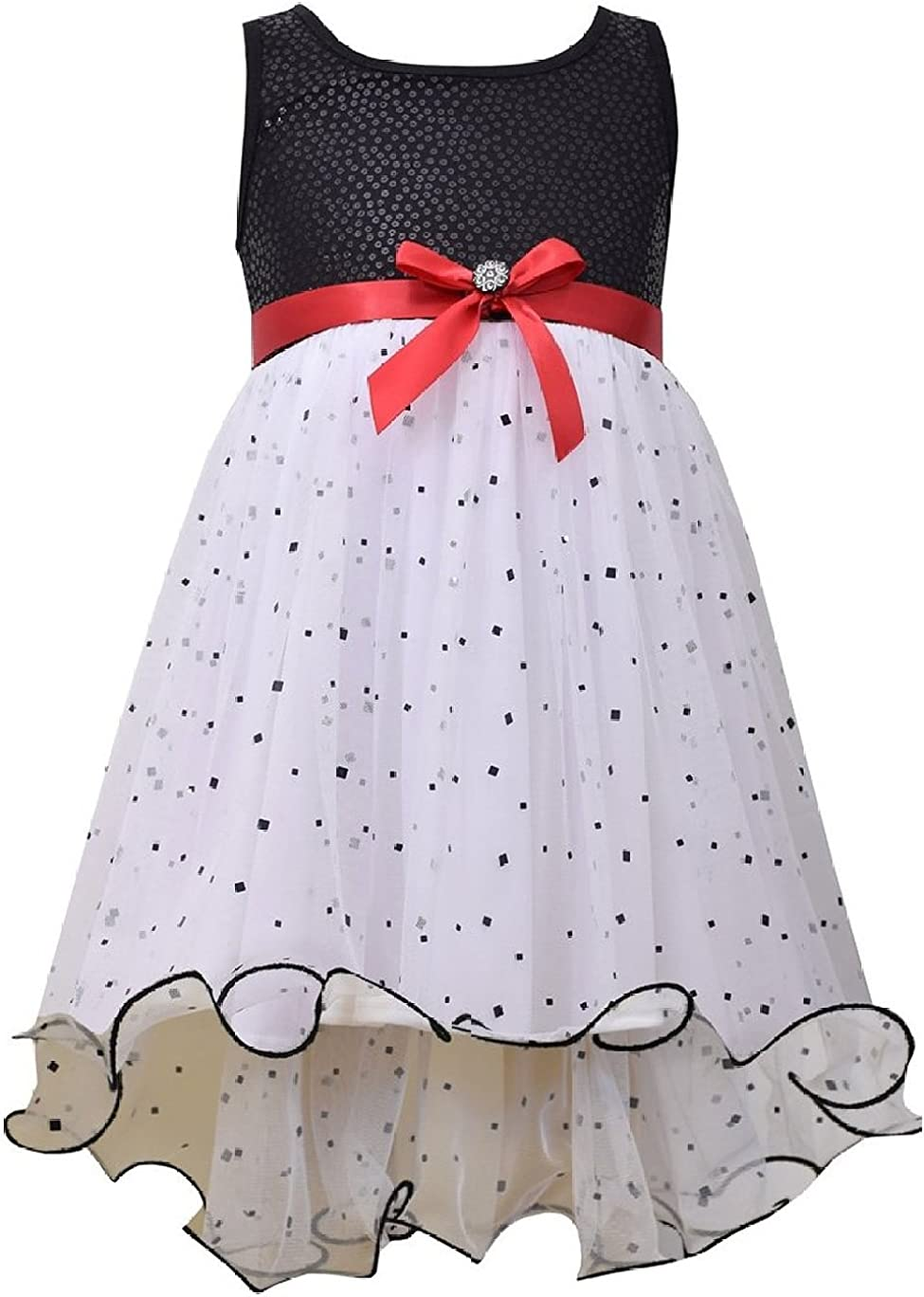 Bonnie Selling and selling Jean Girls' We OFFer at cheap prices Spangled Dot Hi-Low Dress