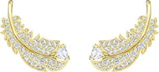 Authentic Nice Gold Plated White Pierced Stud Earrings