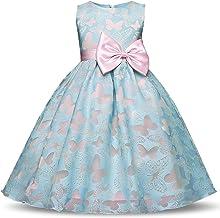 NNJXD Girl Sleeveless Tutu Butterfly Printed Princess Dress