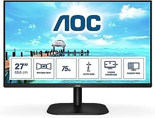 AOC FHD WLED IPS Monitor, 27 inch, Black